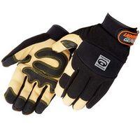 Tan Grain Pigskin Reinforced Palm Mechanic Gloves