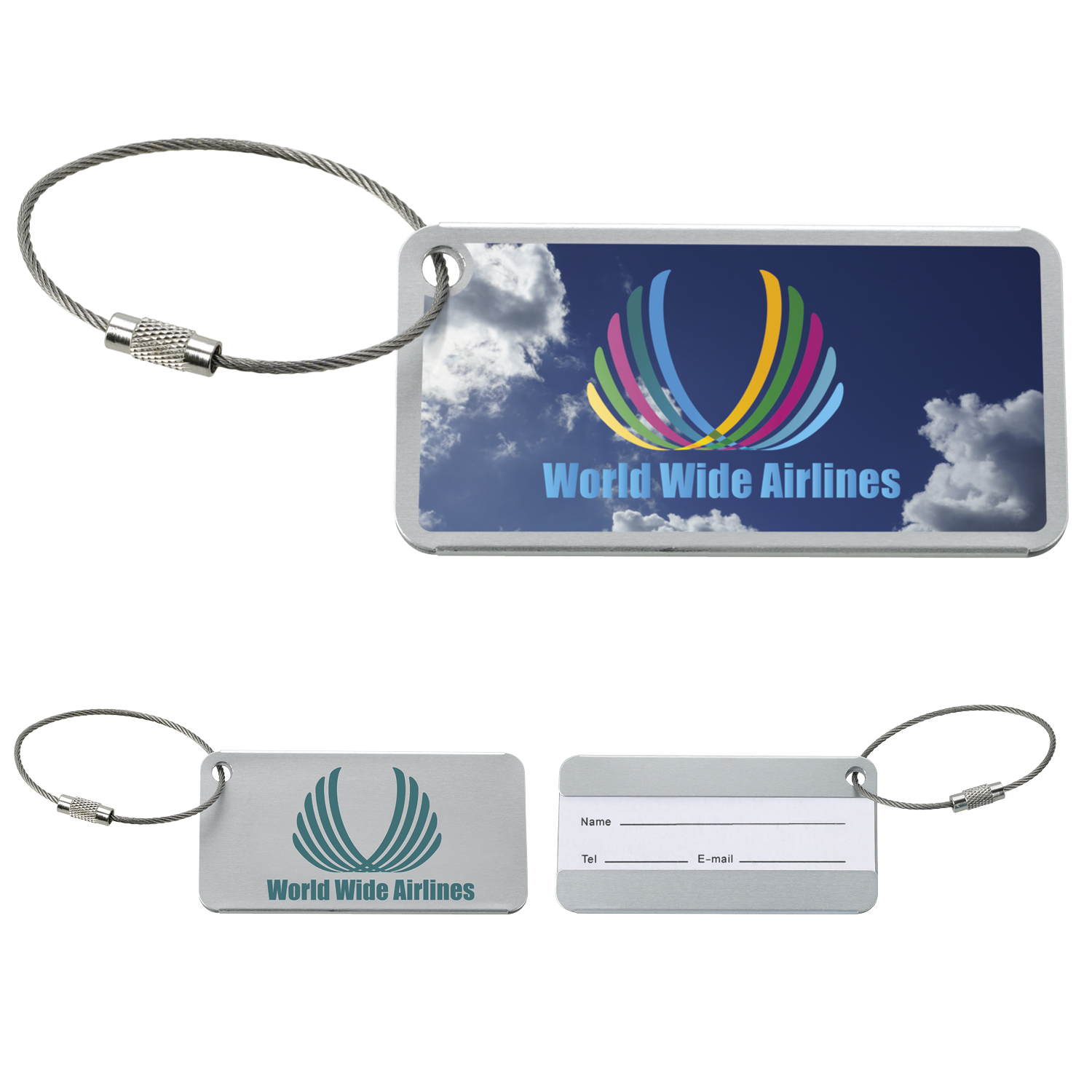 GoodValue Compact Luggage Tag, #15638, 1 Colour Imprint