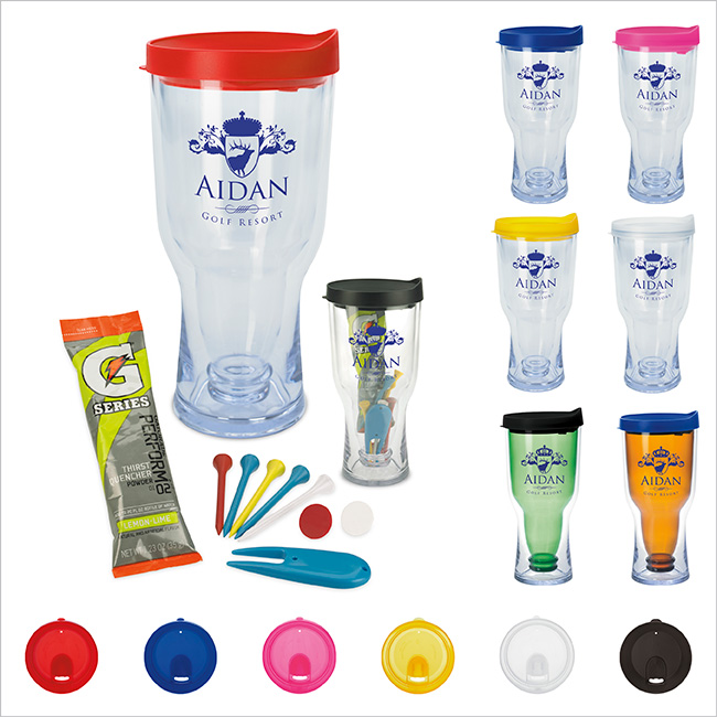 Brew2Go Tumbler w/ Golfing Kit - 1 Colour Imprint