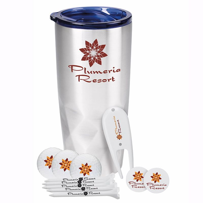 Glacial Diamonds Golf Kit w/Callaway Warbird 2.0 Golf Balls & Tumbler, #62427, 1 Colour Imprint