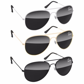 Metal Aviator Sunglasses, #26107, 1 Colour Imprint