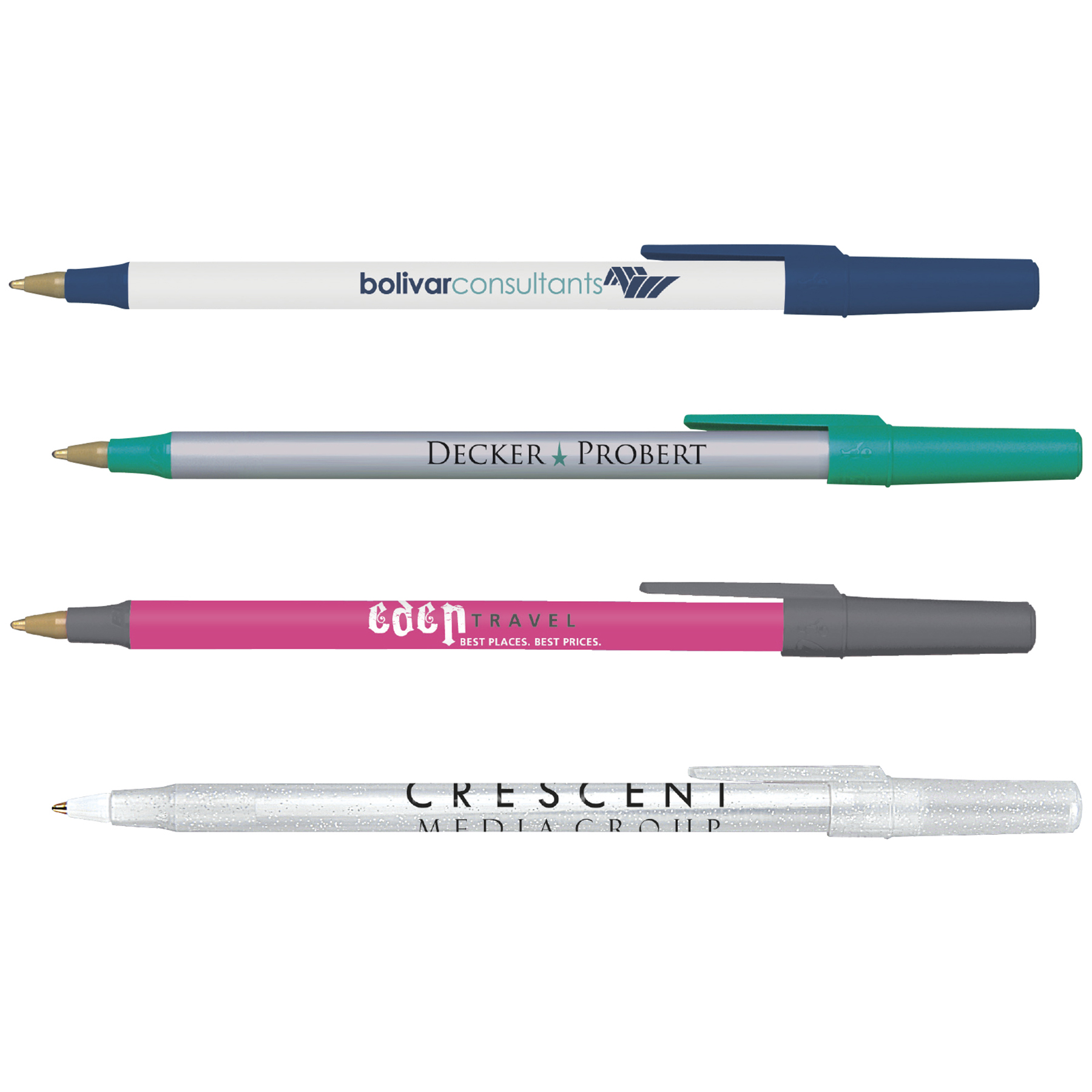 BIC Round Stic Pen, #RS, 1 Colour Imprint