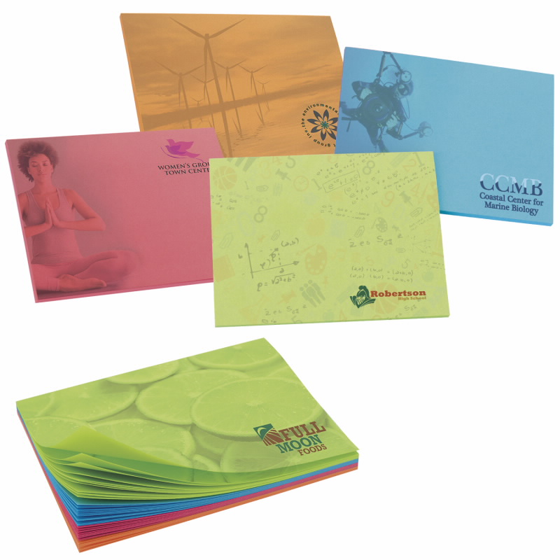 BIC 50 Sheet Bright Colored Paper Adhesive Notepad (4