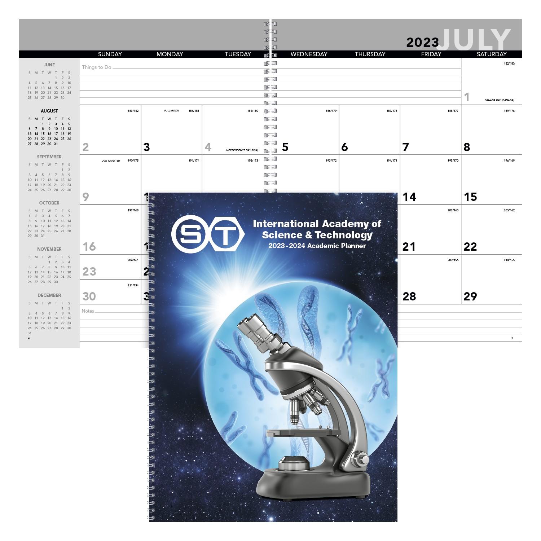 Triumph Academic Year Desk Planner w/Custom Cover, #821, Full Colour Imprint