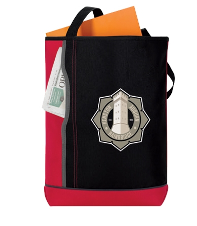 Vertical Pocket Tote Bag - 1 Colour Imprint