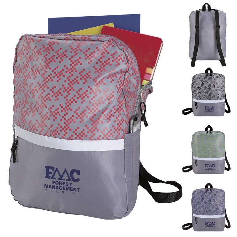 Connect the Dots Lightweight Backpack, #16036, 1 Colour Imprint