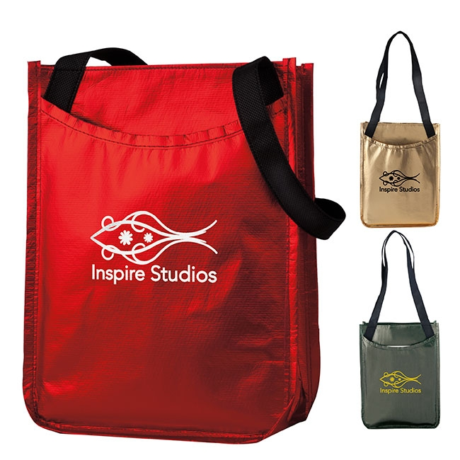 Metallic Non-Woven Gift Tote Bag - 1 Colour Imprint