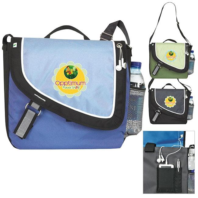 Atchison ECO-A Step Ahead Messenger Bag - 1 Colour Imprint