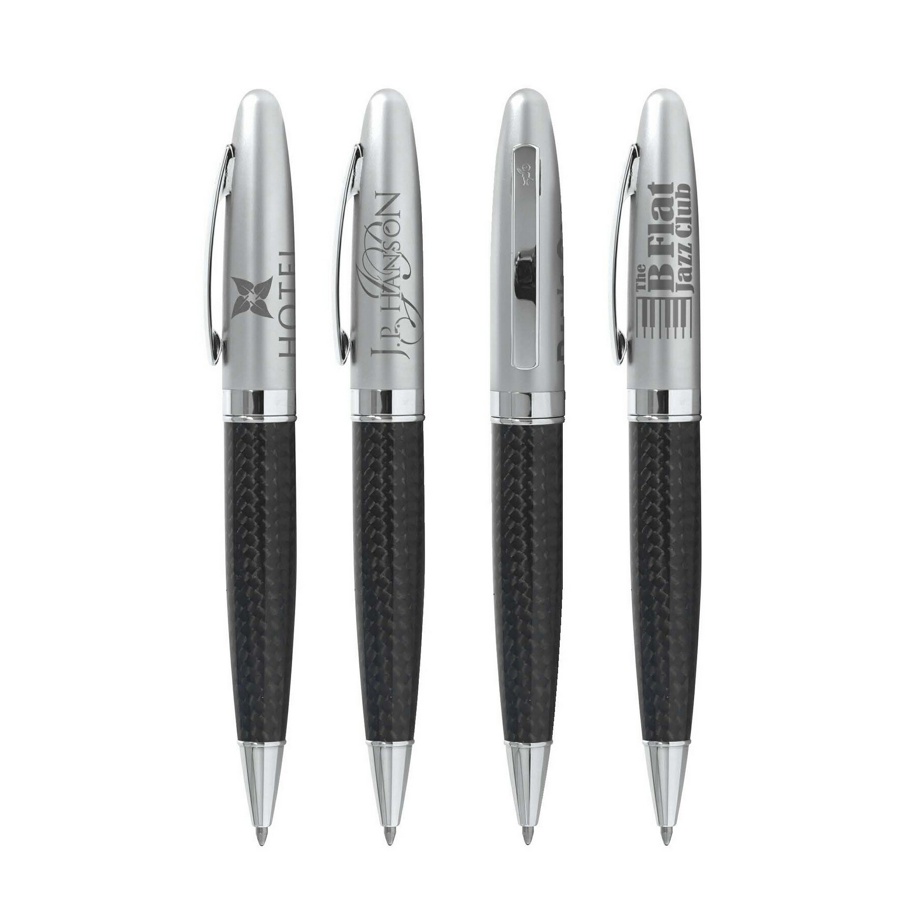 BIC Select Carbon Fiber Twist Pen - Laser Engraved Imprint, #CFT