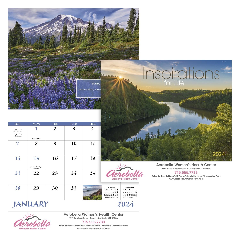 GoodValue Inspirations for Life Calendar (Stapled), #7279, 1 Colour Imprint