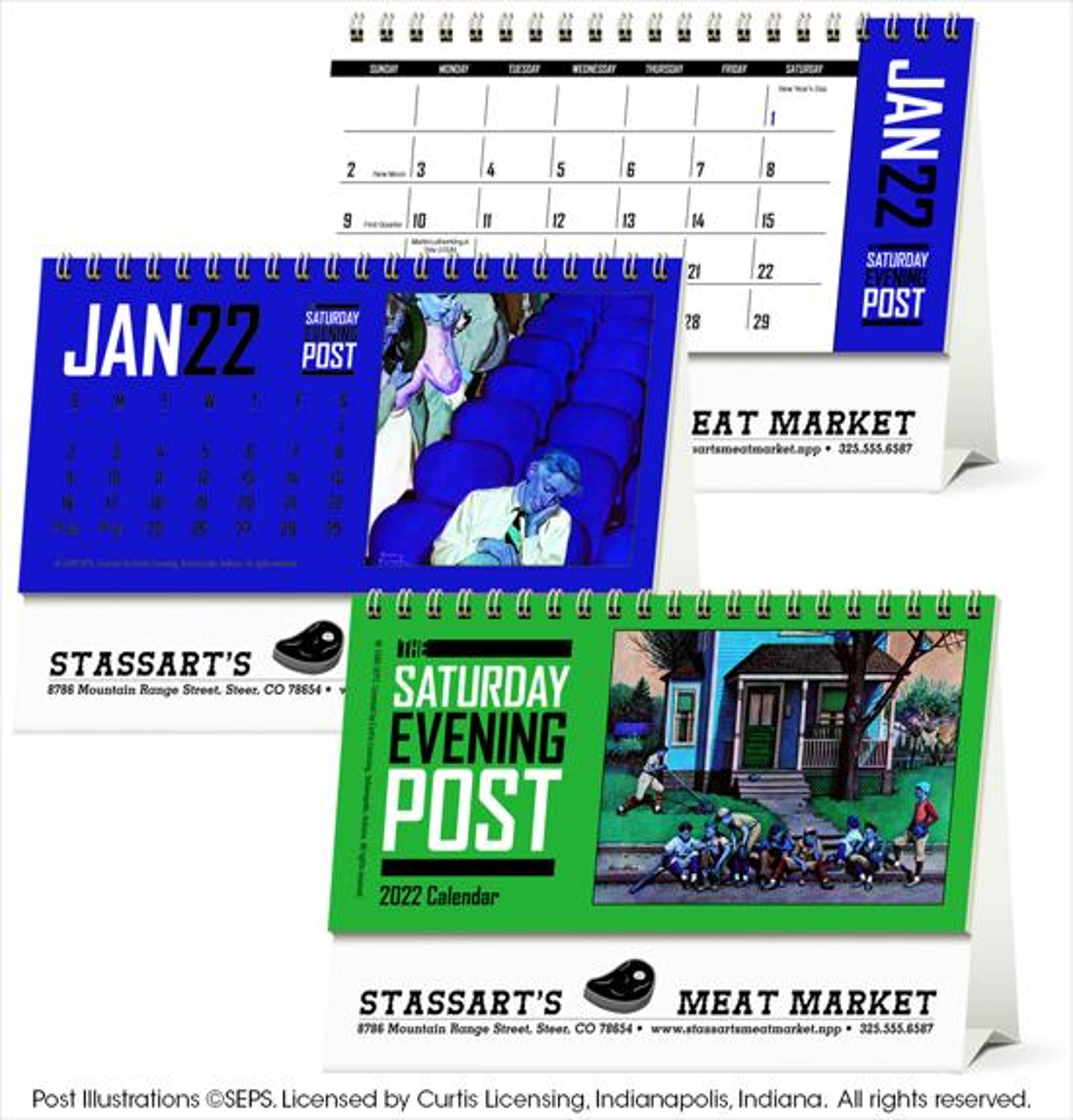 Triumph The Saturday Evening Post Desk Calendar, #4252, 1 Colour Imprint
