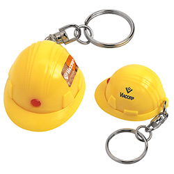 Mini Hard Hat Keychain - 1 Colour Imprint