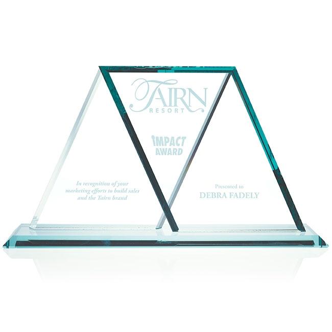 Jaffa Jade Wings Crossing Award - Deep Etch Imprint, #35210