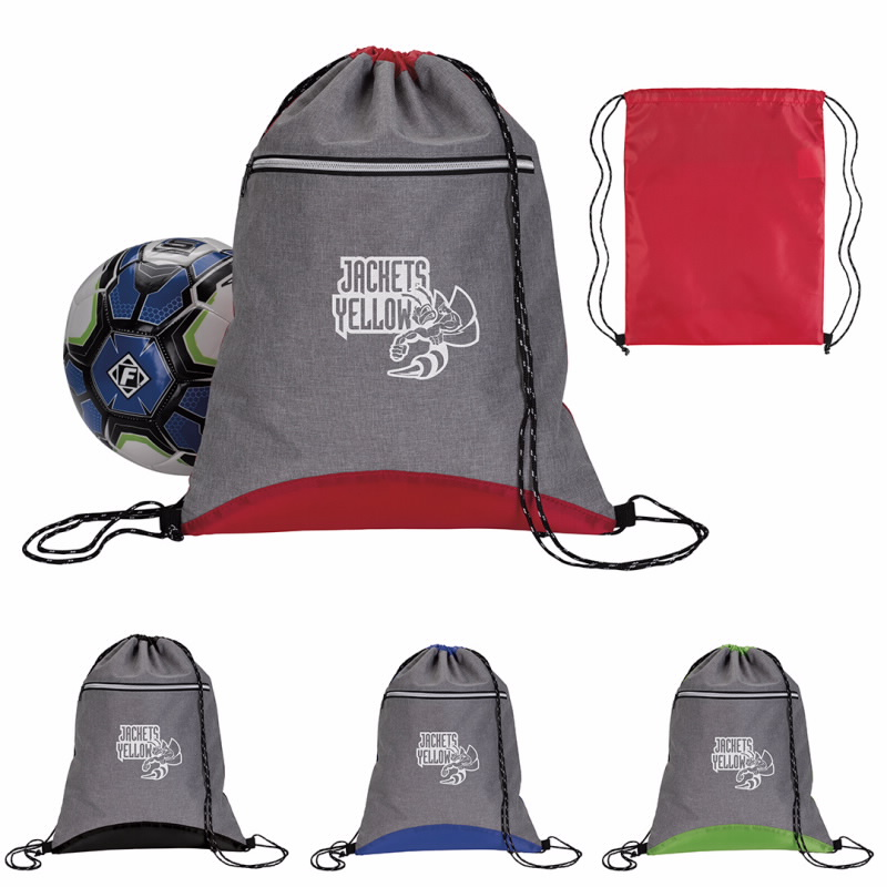 GoodValue Two Tone Sport Drawstring Backpack, #15897, 1 Colour Imprint