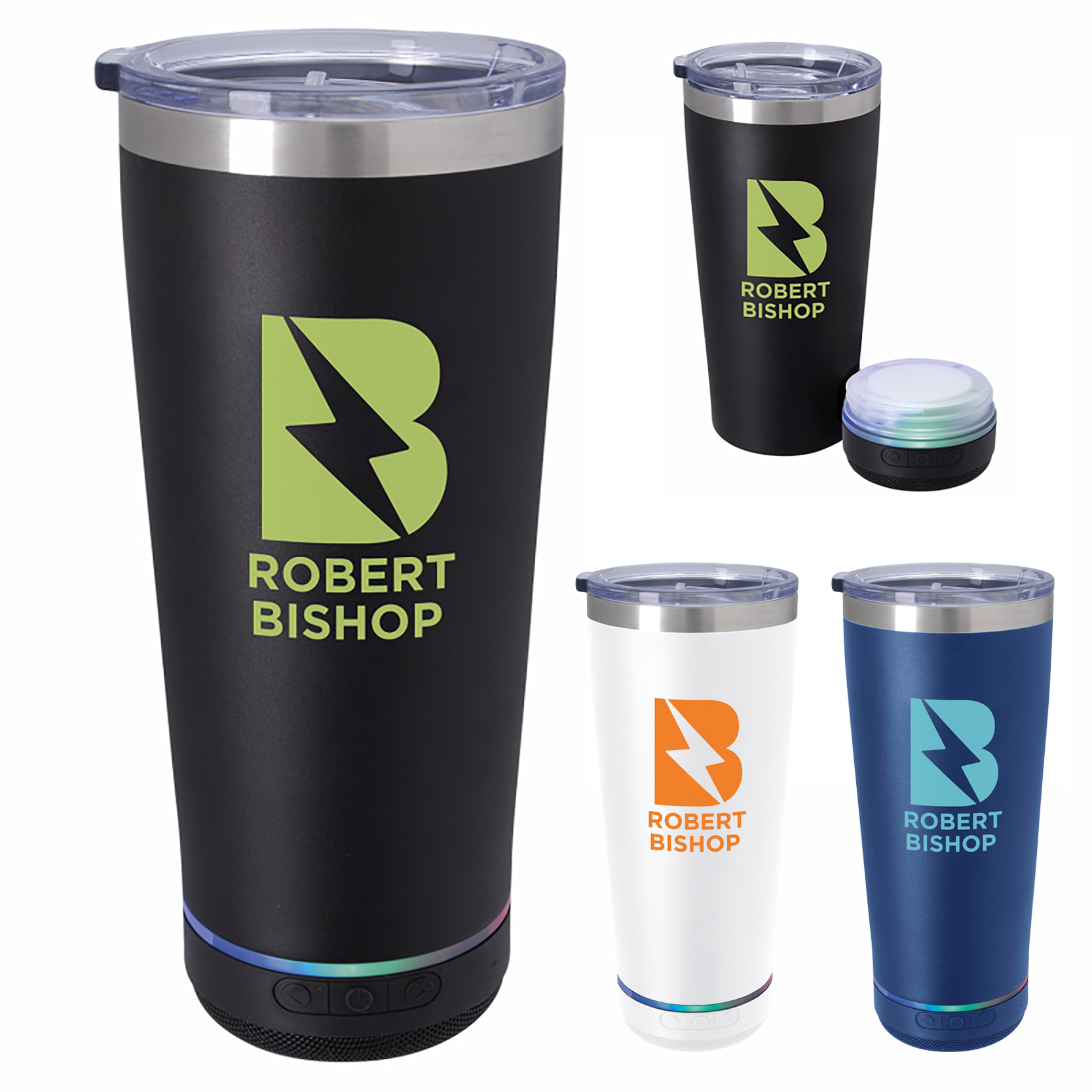 20 Oz. Tumbler w/Bluetooth Speaker, #46309, 1 Colour Imprint