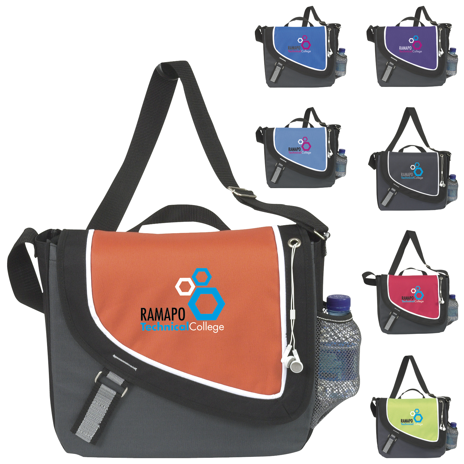 Atchison A Step Ahead Messenger Bag - 1 Colour Imprint