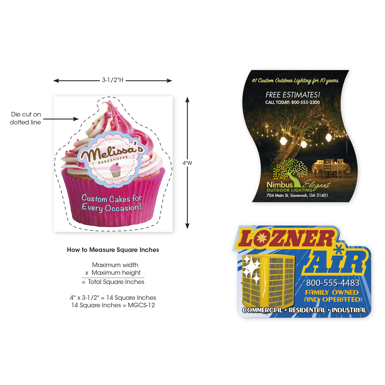 BIC Custom Shape Magnet 10.01 to 12 Square Inches - 20 Mil, #MGCS20-10, Full Colour Imprint
