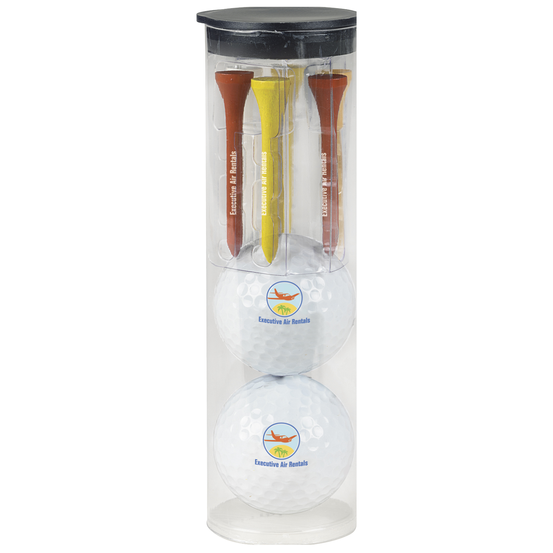 Par Pack w/2 Balls-N-Tees - Wilson Ultra 500 Golf Ball, #60952, 1 Colour Imprint