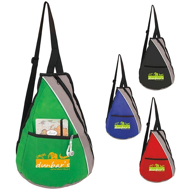 Teardrop Slingpack Backpack - 1 Colour Imprint