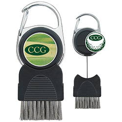 Golf Club Brush with Ball Marker - 1 Colour Imprint