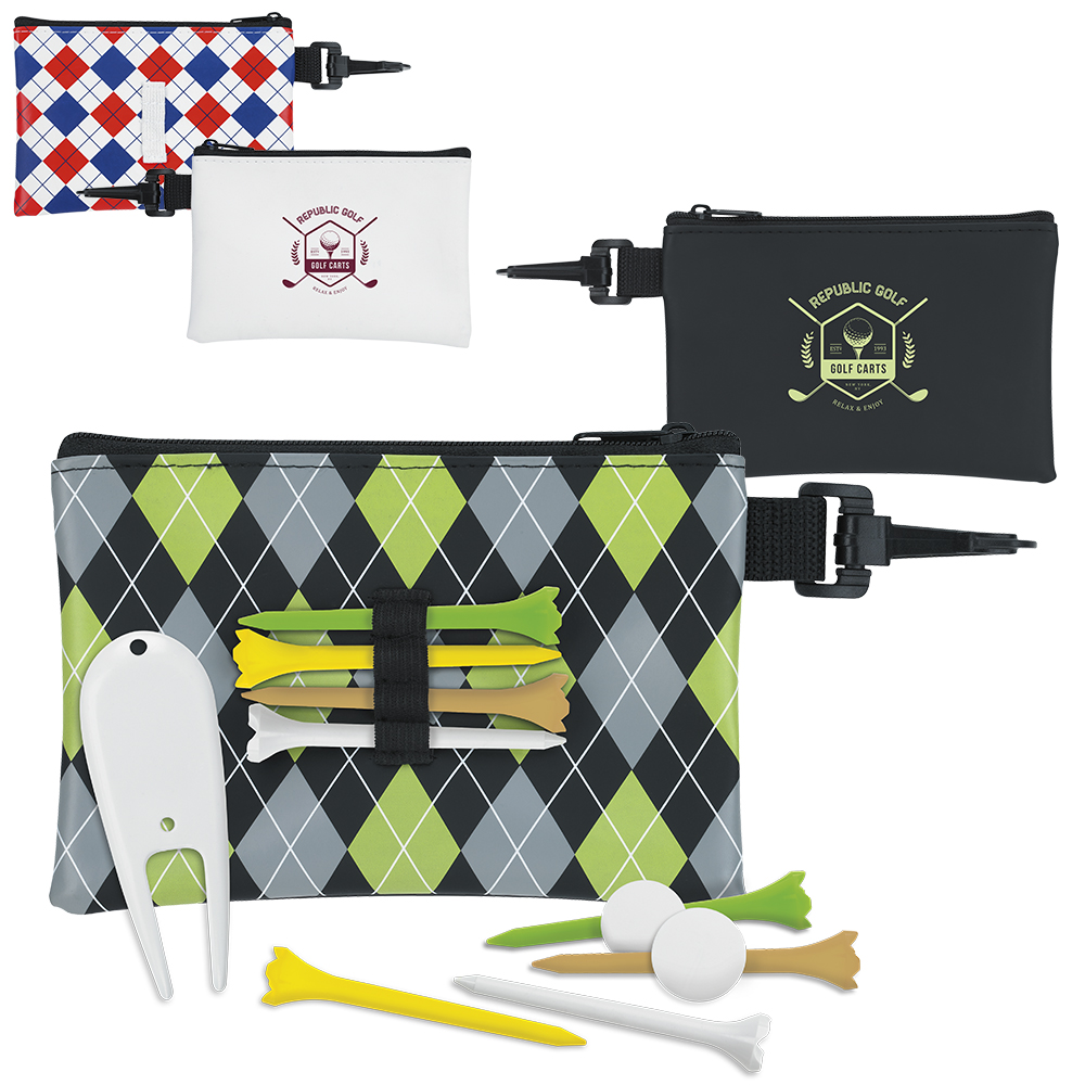 Pattern Golf Pouch Tee Kit (2 3/4
