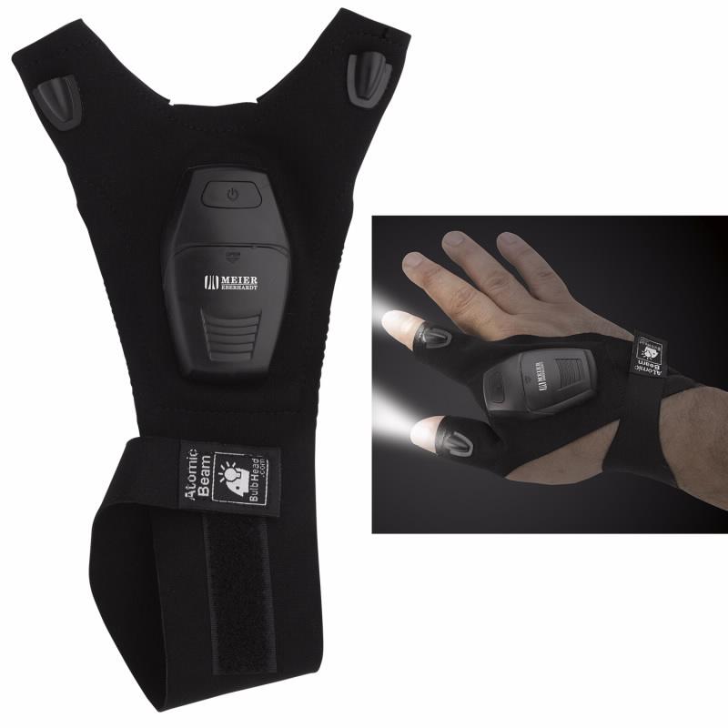 Fingerless Led Flashlight Glove, #21253, 1 Colour Imprint