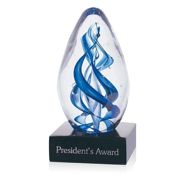 Jaffa Art Glass Gemini Award - Deep Etch Imprint