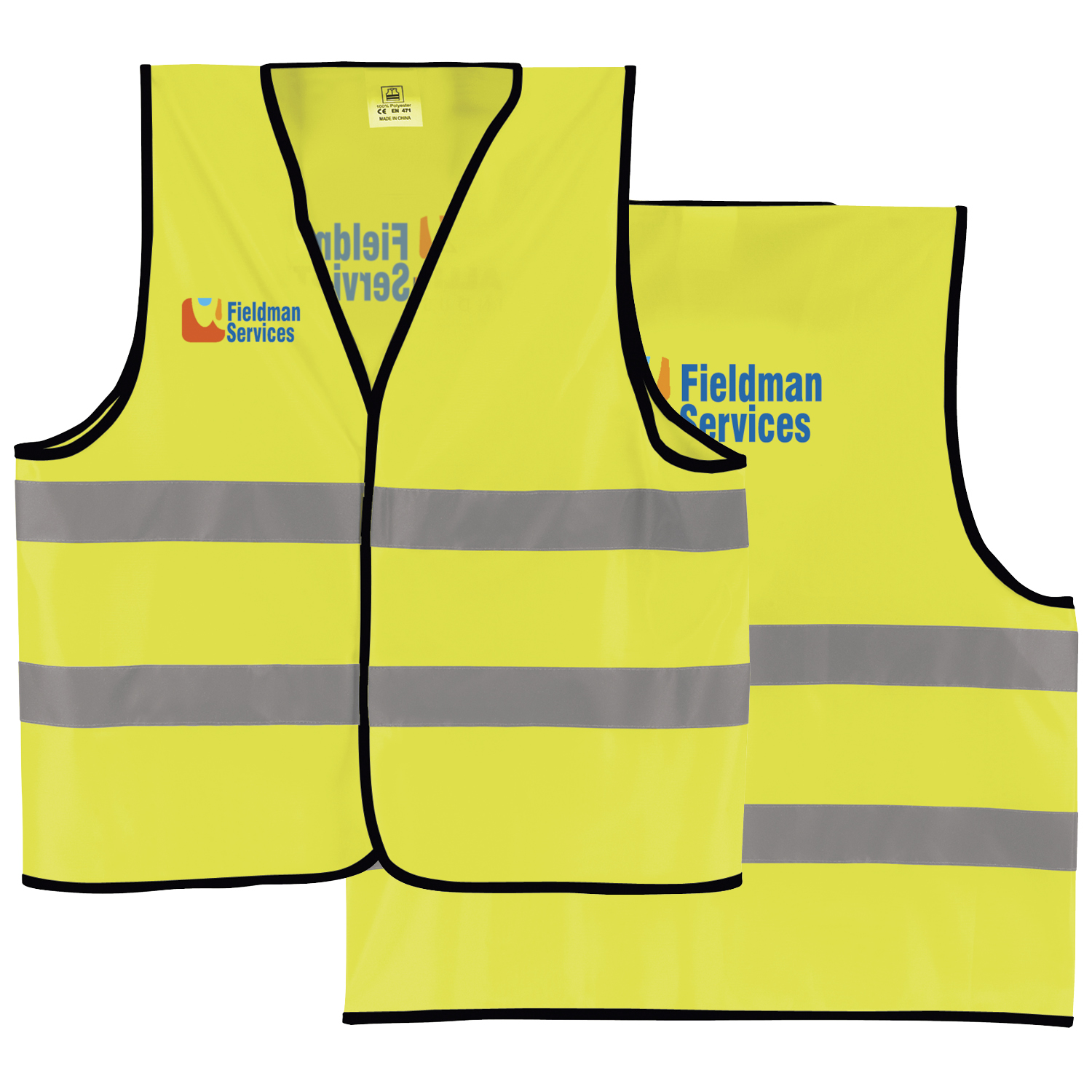 Reflective Safety Vest - 1 Colour Imprint, #50043