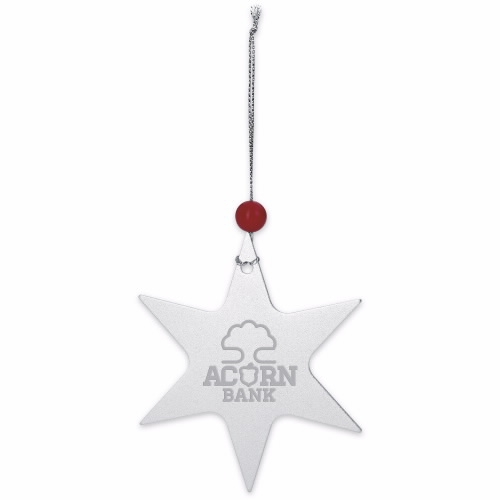 Star Ornament - Laser Engraved Imprint