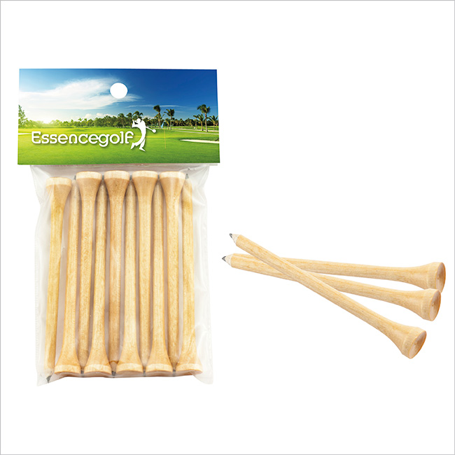 Teecil Golf Tees w/ Card Topper - Full Colour Imprint