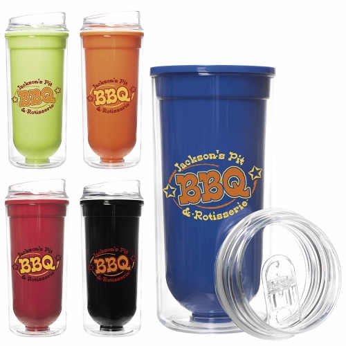 16 Oz. Double Wall Bright Tumbler - 1 Colour Imprint