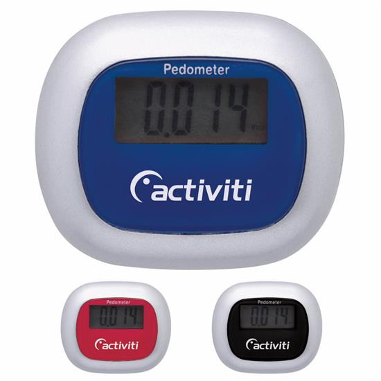 Activity Pedometer w/ Clip - 1 Colour Imprint