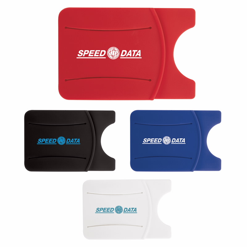 GoodValue Silicone Phone Wallet with Finger Grip, #32126, 1 Colour Imprint