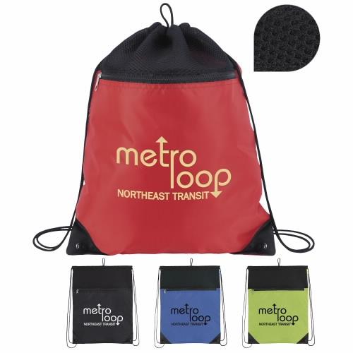Court Drawstring Backpack - 1 Colour Imprint