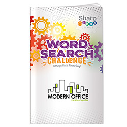 Sharper Minds Word Search Challenge Puzzle Book - 1 Colour Imprint