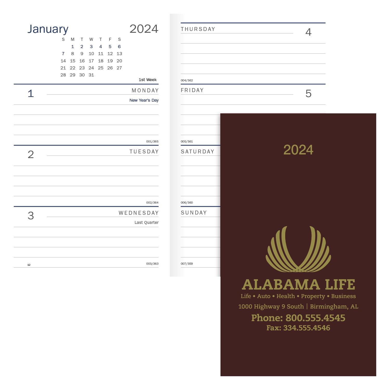 Triumph Classic Weekly Pocket Planner, #8051, 1 Colour Imprint