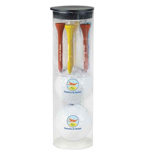 Par Pack w/2 Balls-N-Tees - Titleist DT TruSoft Golf Ball, #60126, 1 Colour Imprint