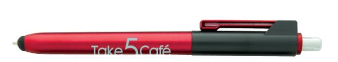 Flat Clip Stylus Pen - 1 Colour Imprint