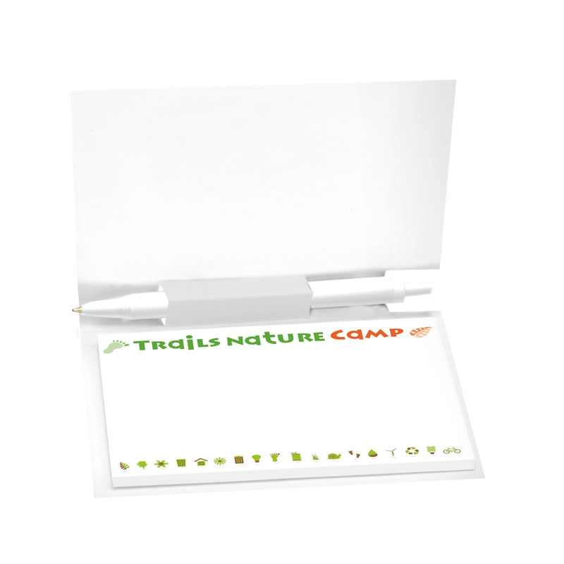 BIC Sticky Note Booklet w/ Notepad & Mini Clic Stic Pen - Full Colour Imprint
