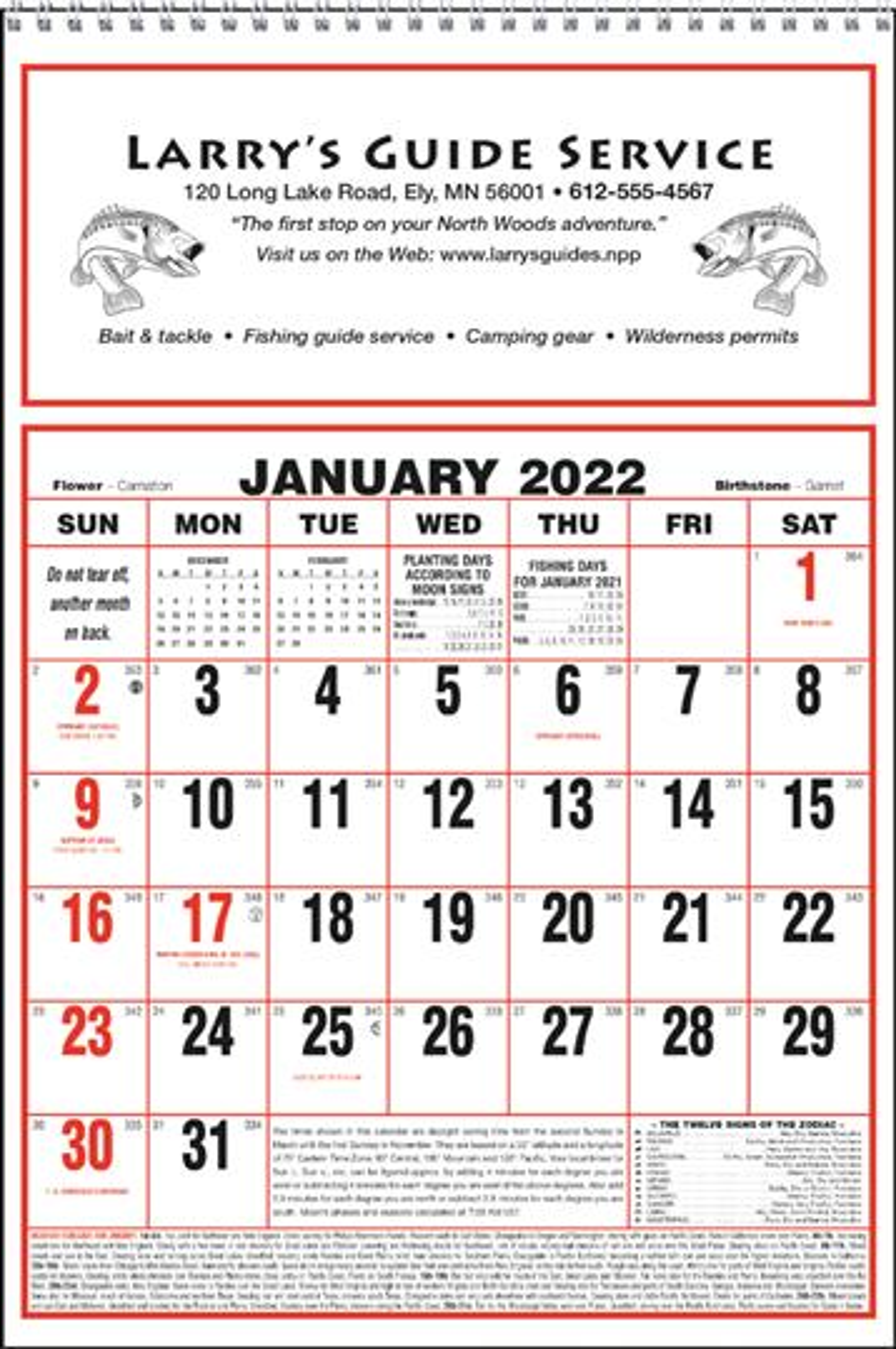 Triumph Large Almanac Commercial Calendar, #6701, 1 Colour Imprint