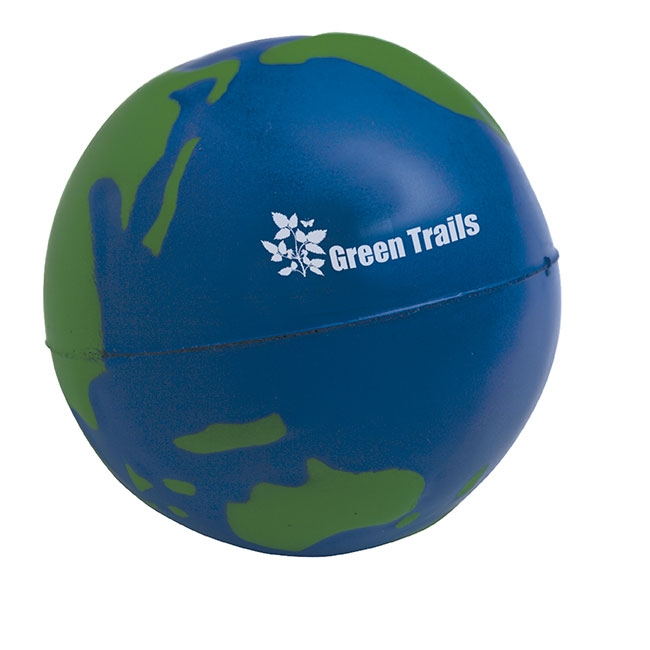 Globe Stress Ball - 1 Colour Imprint