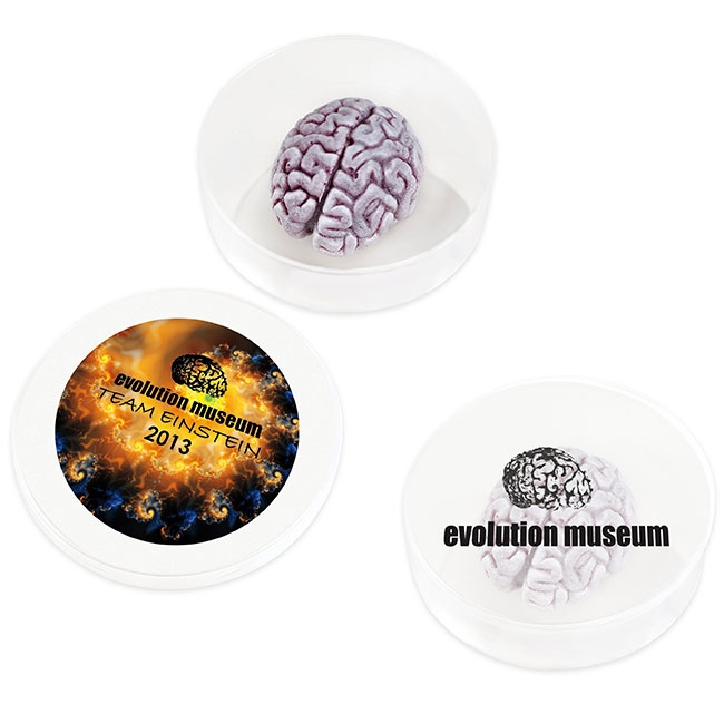 Splatter Brain in a Dish - 1 Colour Imprint