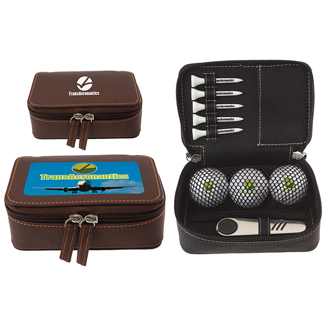 Zippered Golf Gift Kit w/Titleist DT TruSoft Golf Balls, #61970, 1 Colour Imprint
