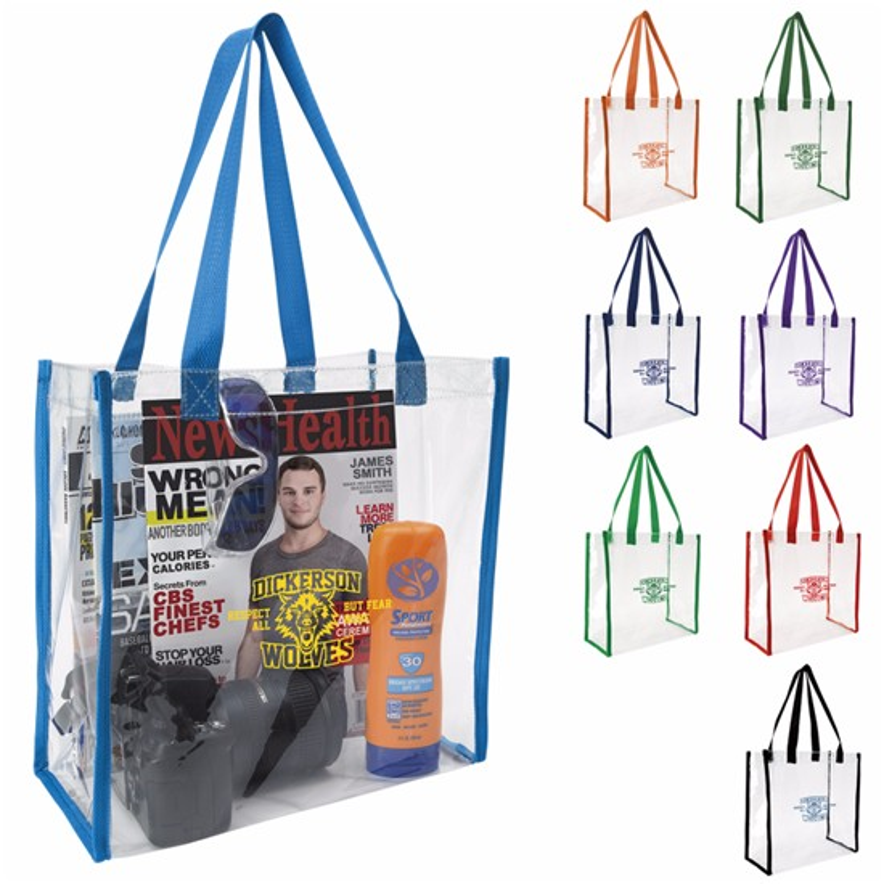 Clear Game Tote Bag - 1 Colour Imprint