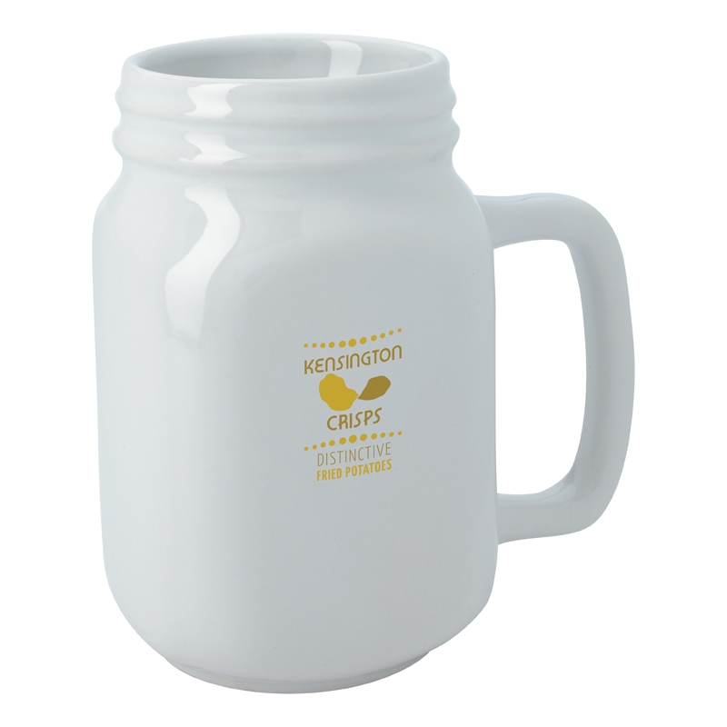 16 Oz. White Sweet Southern Mug - 1 Colour Imprint