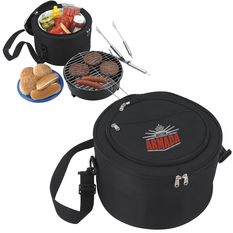 Koozie Portable BBQ w/Cooler Bag - 1 Colour Imprint