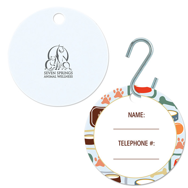 Large Circle Pet ID Tag - Full Colour Imprint