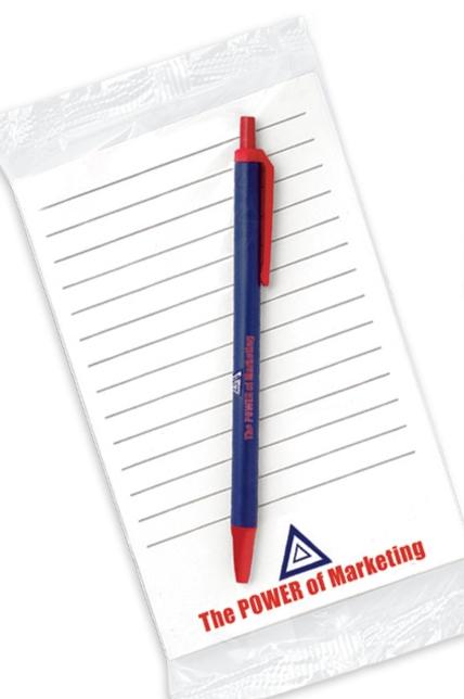 BIC Clic Stic Pen w/ 50 Sheet Notepad (4