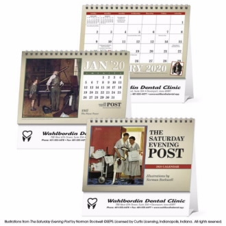 Triumph The Saturday Evening Post Illustrations by Norman Rockwell Large Desk Calendar, #4276, 1 Colour Imprint