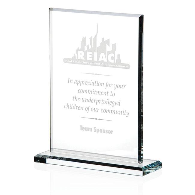 Jaffa Vertical Gem Cut Award - Deep Etch Imprint, #35221